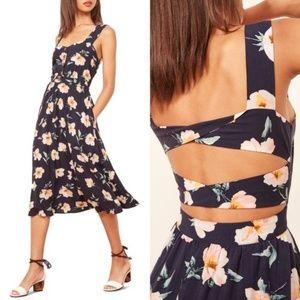 NWOT Reformation Lanai Floral Midi Dress